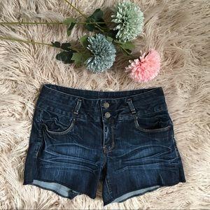 Refuge Mid Rise Denim Shorts